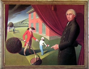 Grant Wood, Parson Weems Fable, 1939, sm