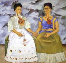 Frida Kahlo, Two Fridas, 1939, click image to enlarge