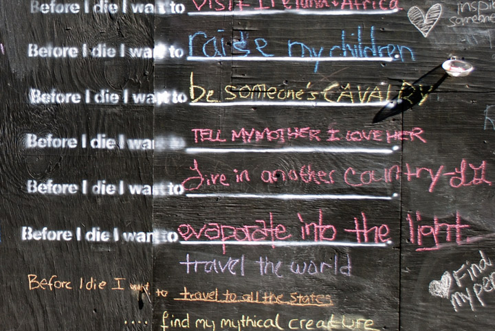 Candy Chang, Before I Die, 2011