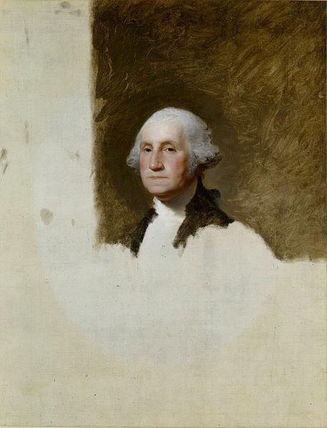 Gilbert Stuart, Portrait of George Washington (The Athenaeum Portrait), 1796