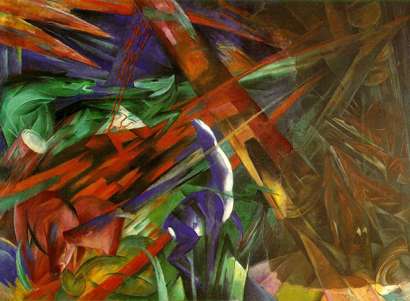 Franz Marc, The Fate of the Animals, 1913