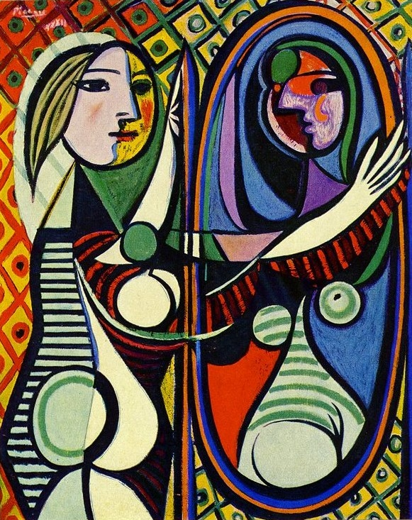Pablo Picasso, Girl Before a Mirror, 1932 (click to see image larger)