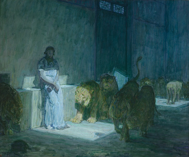 Henry Ossawa Tanner, Daniel in the Lions' Den, 1907–18