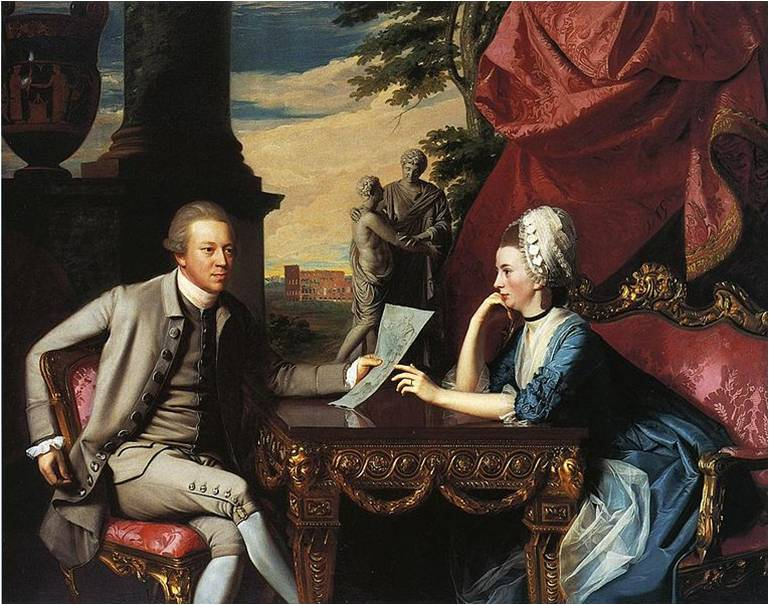 John Singleton Copley, Mr. and Mrs. Ralph Izard, 1775