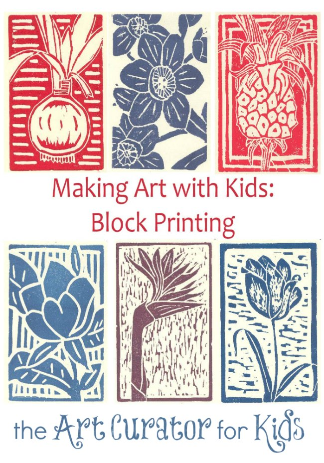 making art with kids block printing lesson - Printing With Children