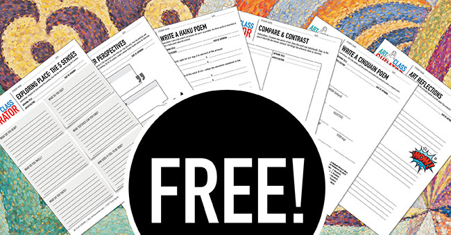 Free Art Worksheets Bundle-FB