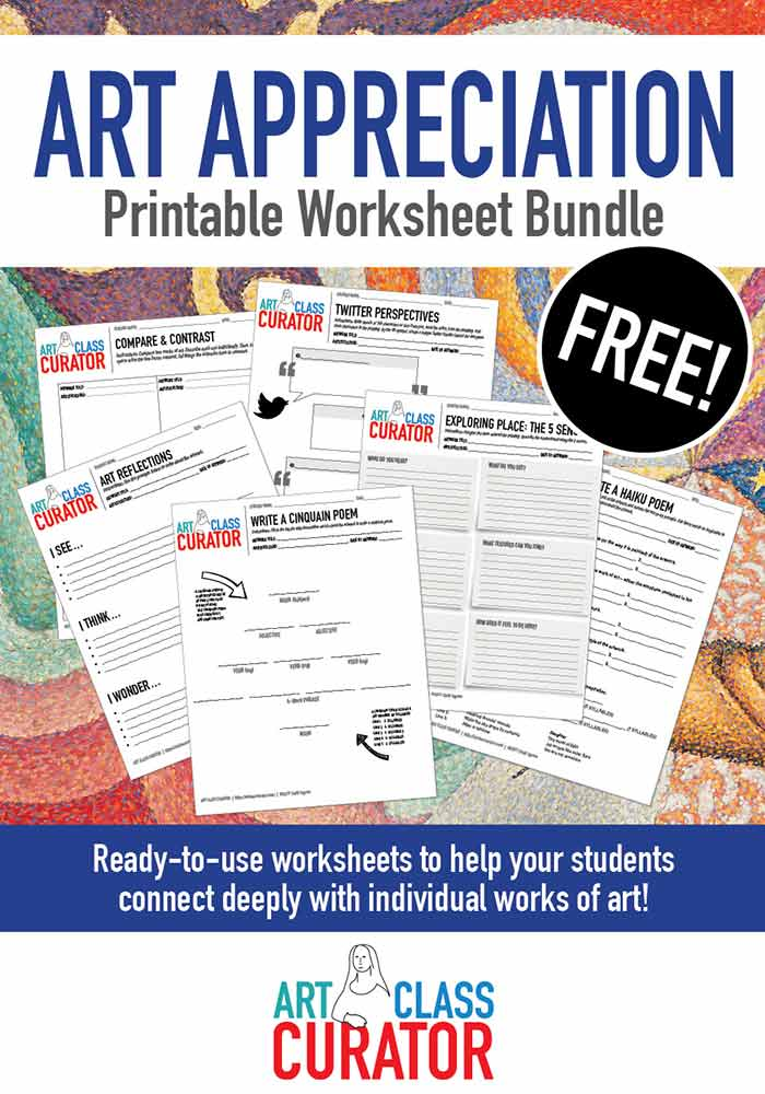 Free Art Worksheets Printable Bundle