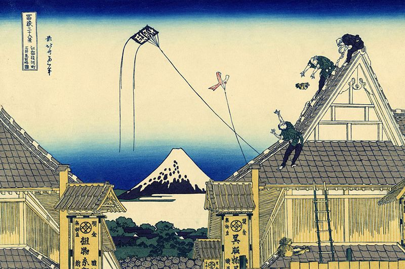 Hokusai, A sketch of the Mitsui shop in Suruga in Edo, 1830