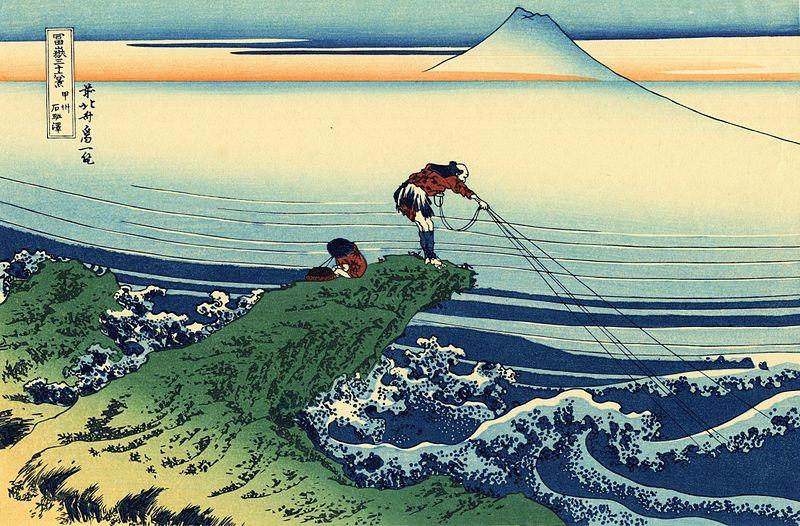 Hokusai, Kajikazawa in Kai Province, 1830