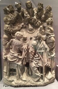 The Last Supper sculpture from the Met Museum of Art, 1500-1530