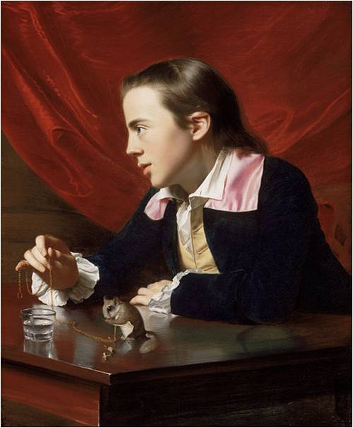 Two Muses Homeschool Art - Charlotte Mason Picture Study - John Singleton Copley, A Boy with a Flying Squirrel, 1765