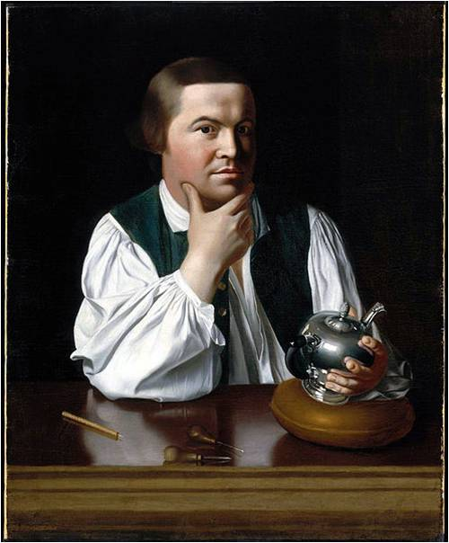 Two Muses Homeschool Art - Charlotte Mason Picture Study - John Singleton Copley, Portrait of Paul Revere, 1768