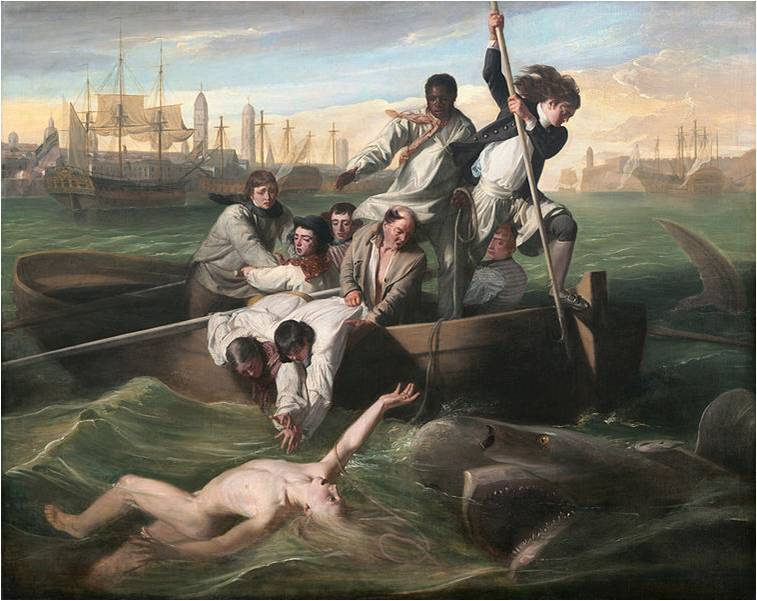 Two Muses Homeschool Art - Charlotte Mason Picture Study - John Singleton Copley, Watson and the Shark, 1778