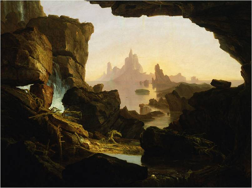 Thomas Cole, The Subsiding of the Waters of the Deluge, 1829