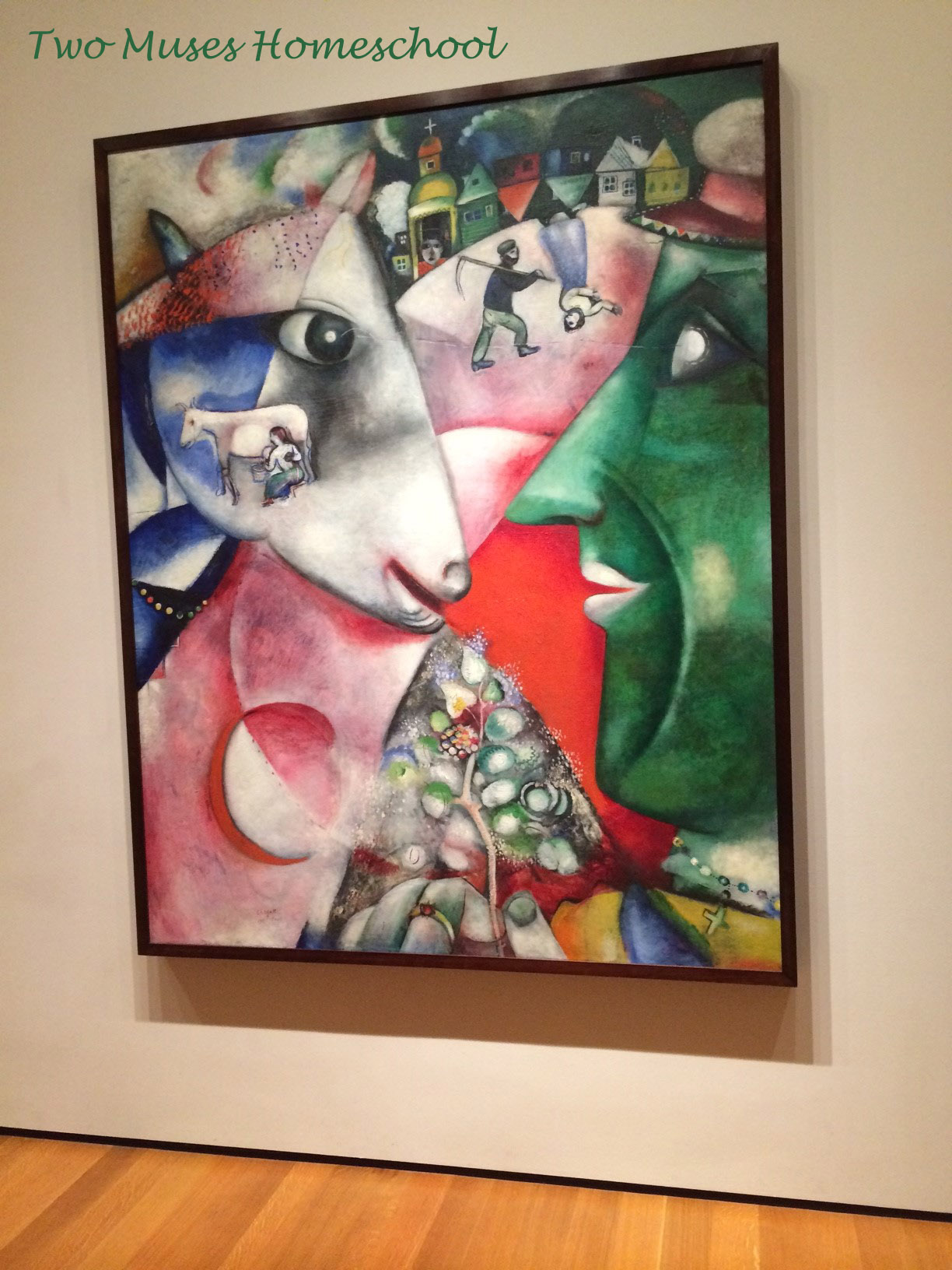 Marc Chagall I and the Village at MOMA