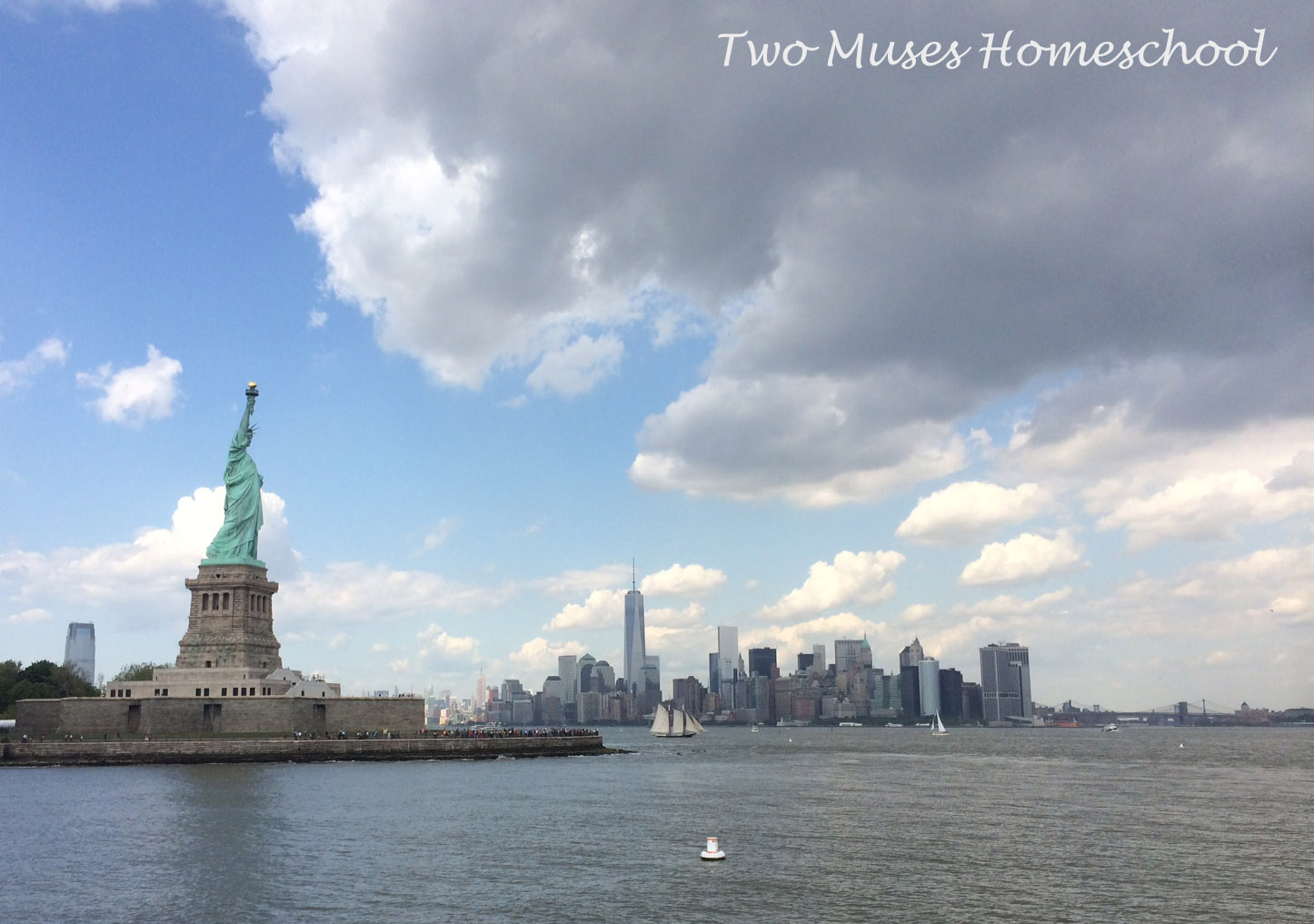 Statue of Liberty and NYC Skyline