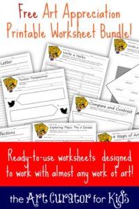 the Art Curator for Kids - Free Art Appreciation Printable Worksheet Bundle