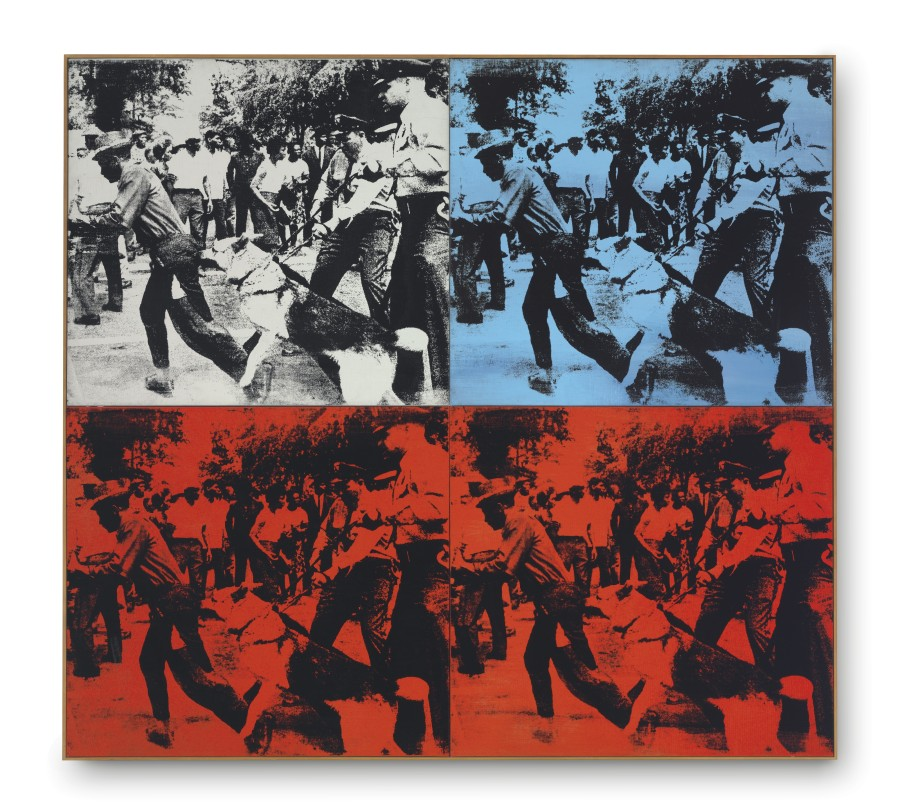 Civil Rights Movement art - Andy Warhol, Race Riot, 1964