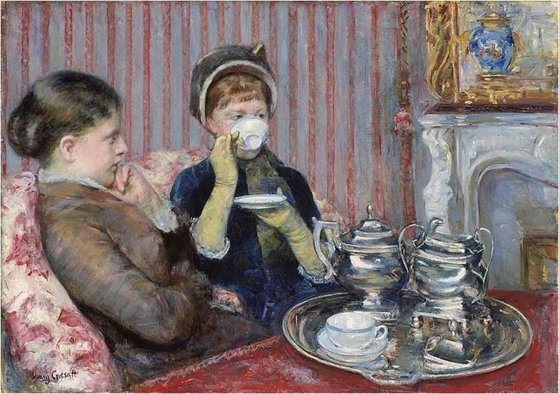 Mary Cassatt, Tea, 1880