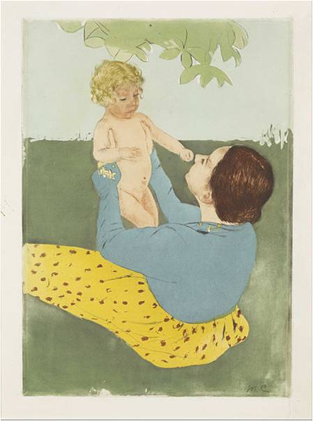 Mary Cassatt, Under the Horse Chestnut Tree, 1898