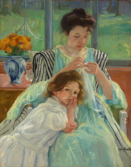 Mary Cassatt, Young Mother Sewing,1900
