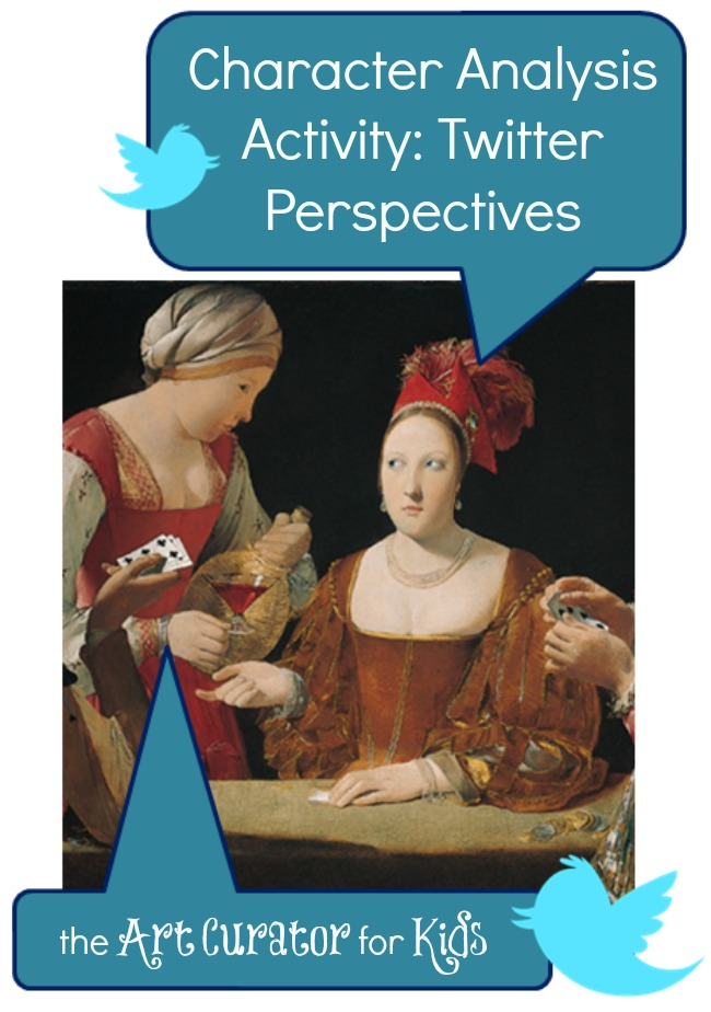 The Art Curator for Kids - Character Analysis Art Activity - Twitter Perspectives