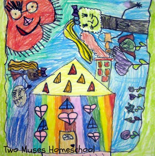 Art Curator for Kids - Making Art with Kids - Chagall-Inspired Drawings 2