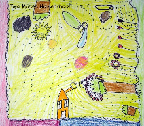 Art Curator for Kids - Making Art with Kids - Chagall-Inspired Drawings 3
