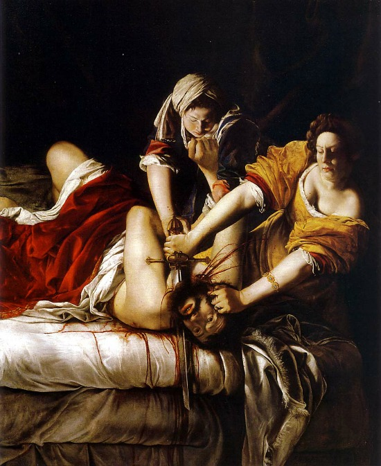 *Read more to see artist's name, Judith Slaying Holofernes, 1614–20