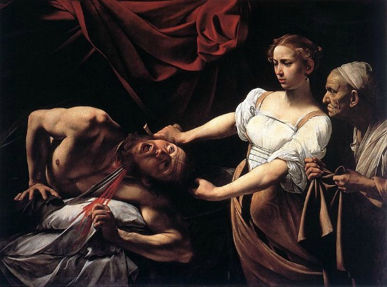 Caravaggio, Judith Beheading Holofernes, 1598-99