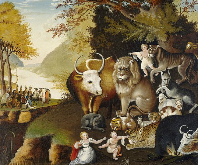 Edward Hicks, The Peaceable Kingdom (1826), National Gallery of Art, Washington, DC
