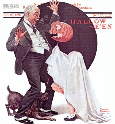 Halloween by Norman Rockwell October 23, 1920
