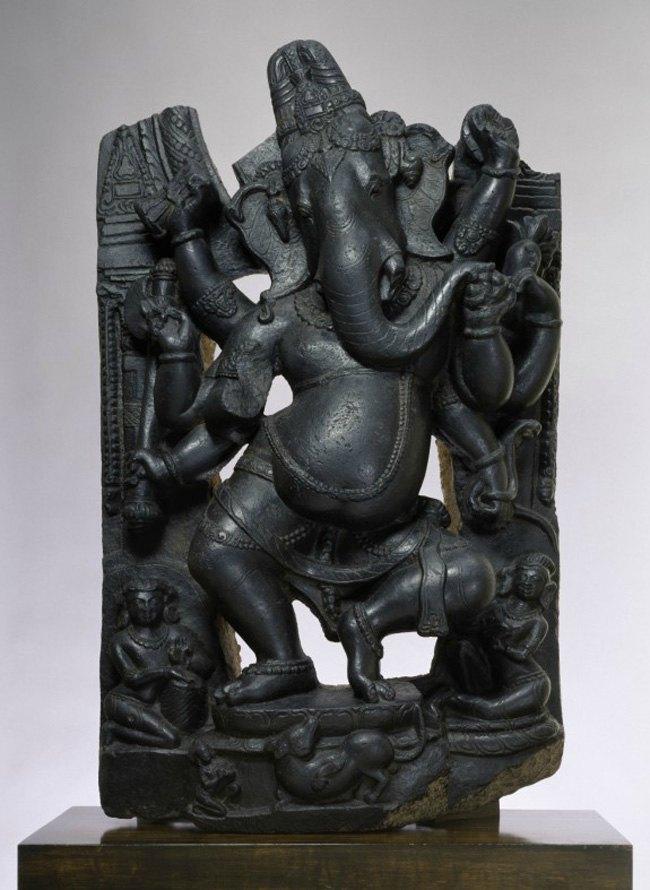 Indian, Ganesha, 1st half 11th century, muscovite biotite schist, Walters Art Museum
