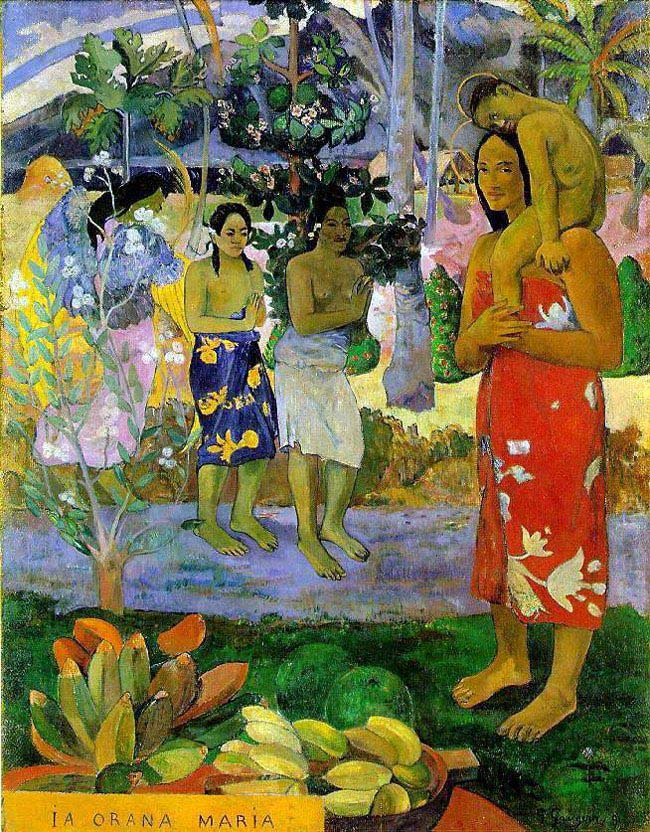 Paul Gauguin, We Hail Thee Mary, 1891, Metropolitan Museum of Art, New York