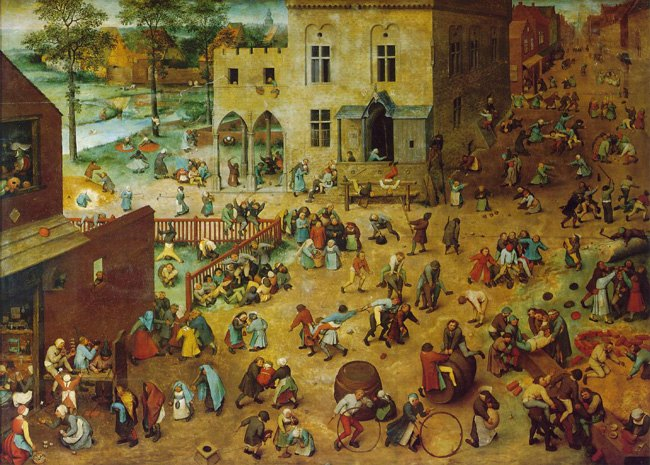 Pieter Bruegel, Children's Games, 1560, Oil on oak panel, Kunsthistorisches Museum Wien, Vienna