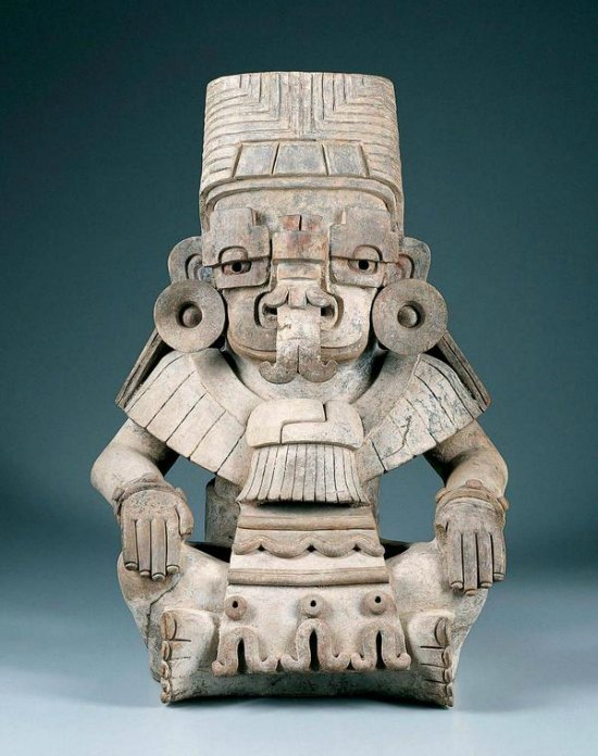 Urn in the Form of Cociyo, Zapotec God of Lightning and Rain, c. A.D. 400–500, Ceramic, Art Curator for Kids, Zapotec Sculpture, Zapotec Art Lesson, Art History for Kids