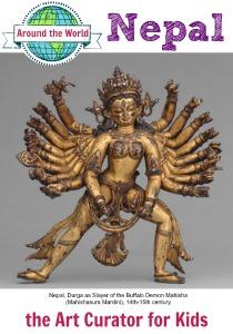 the Art Curator for Kids - Art Around the World - Nepal - Nepal, Durga as Slayer of the Buffalo Demon Mahisha (Mahishasura Mardini), 14th-15th century-300
