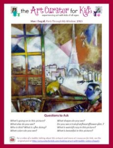 the Art Curator for Kids - Chagall Printable Screenshot
