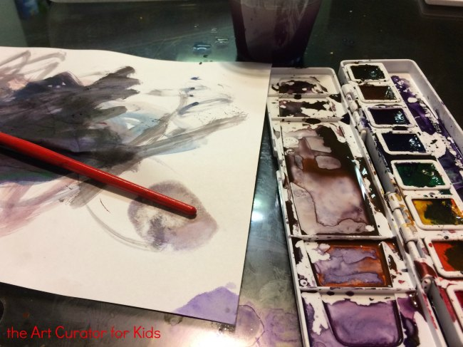 the Art Curator for Kids - Messy Watercolor