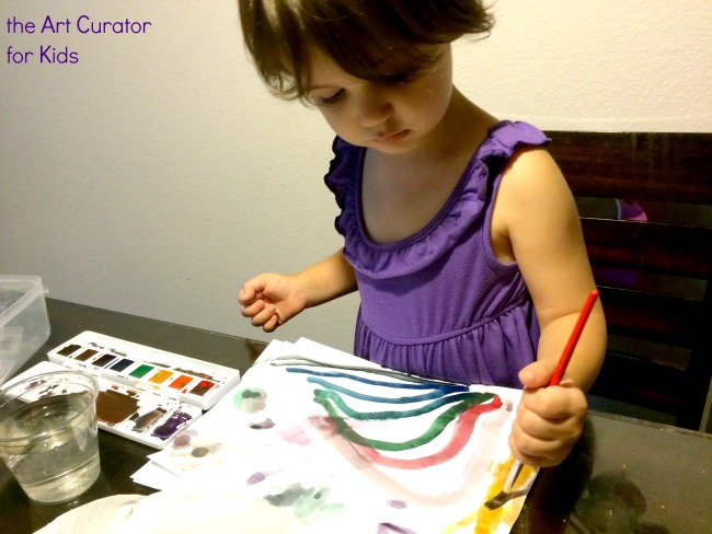 the Art Curator for Kids - Watercolor Toddler
