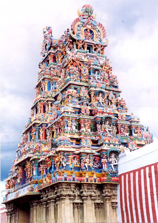 One of the Gopuram of Meenakshi Amman Temple at Madurai