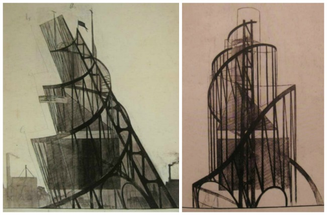 Sketches of Tatlin's Tower