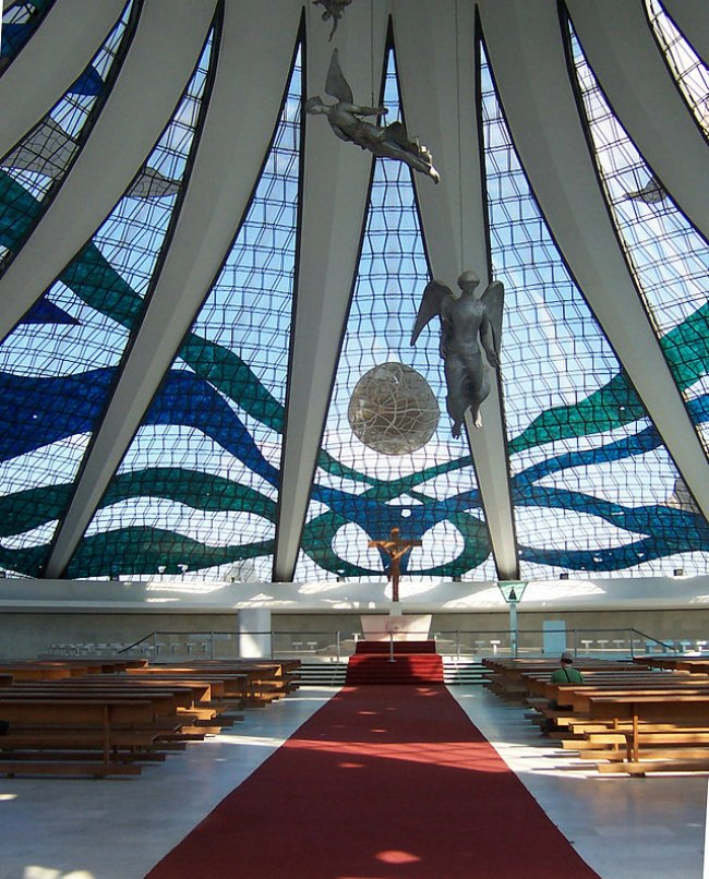 The Art Curator for Kids, Architecture Lessons, Cathedral of Brasilia Interior, Photo Credit-Tampasteve
