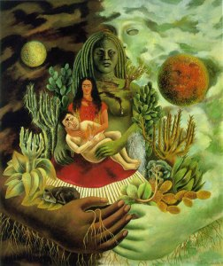 The Art Curator for Kids - Art Around the World - Mexico - Frida Kahlo, The Love Embrace of the Universe, the Earth (Mexico), Myself, Diego, and Señor Xólotl, 1949