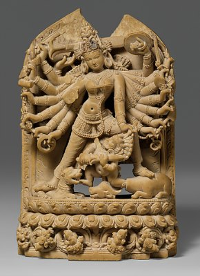 The Goddess Durga Killing the Buffalo Demon (Mahishasura Mardini), 12th Century, Met Museum