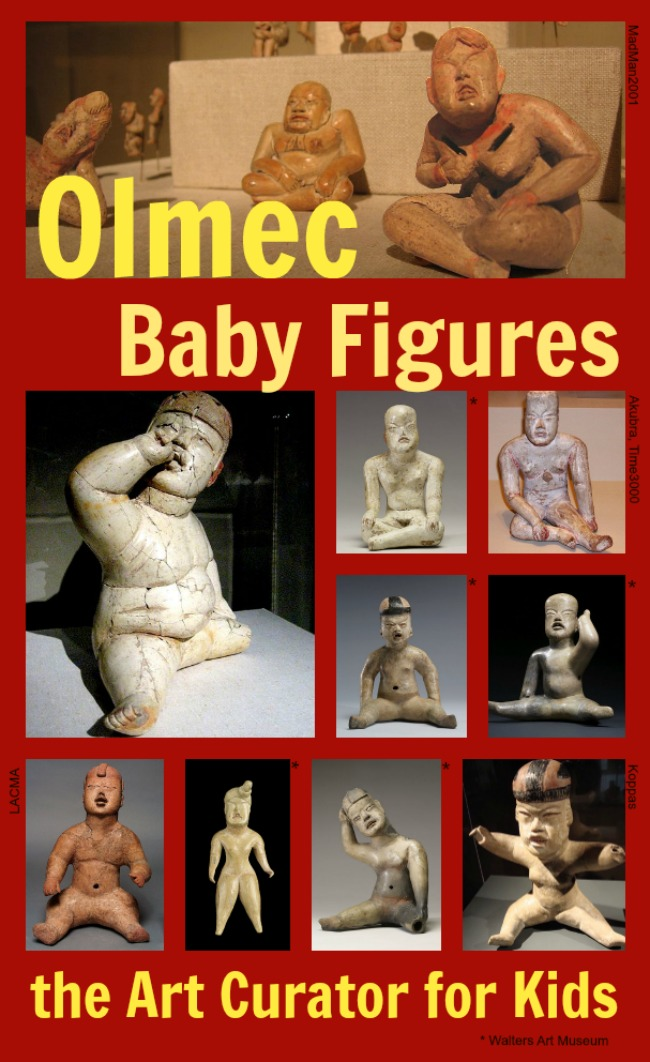 the Art Curator for Kids - Art Around the World - Olmec Art Baby Figures - Art History for Kids
