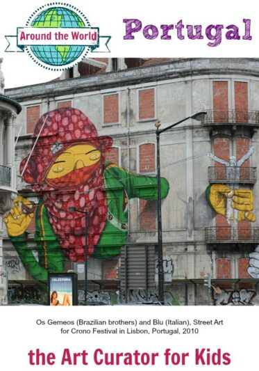 the Art Curator for Kids - Art Around the World - Portugal - Os Gemeos and Blu, Street Art in Lisbon, Portugal, 2010-Erdalito