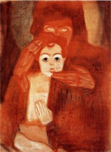 Egon Schiele, Mother and Child (Madonna), 1908