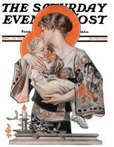 Modern Madonna and Child, December 23, 1922, J.C. Leyendecker