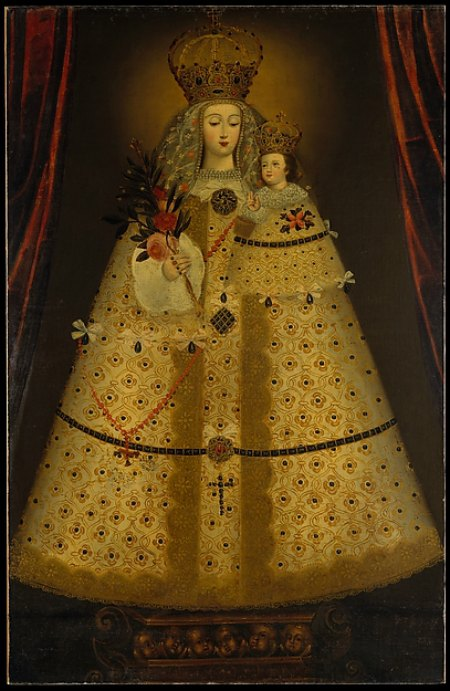 Peruvian, Virgin of the Rosary of Guápulo, ca. 1680, Oil on canvas